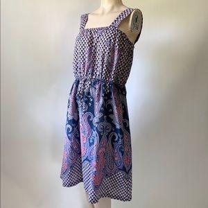 Vintage 1970s Handmade Paisley Summer Dress